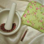 Rose-Salbei-Duftmischung und Schlafkissen