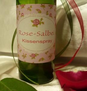 Rose-Salbei-Kissenspray