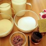Rosengrießflammerie Zutaten