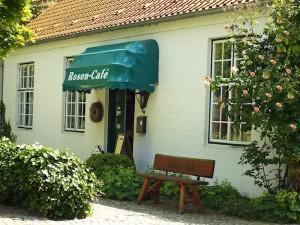 Rosen-Cafe Glücksburg Eingang