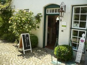 Eingang Shop seaside garden Rosarium Glücksburg